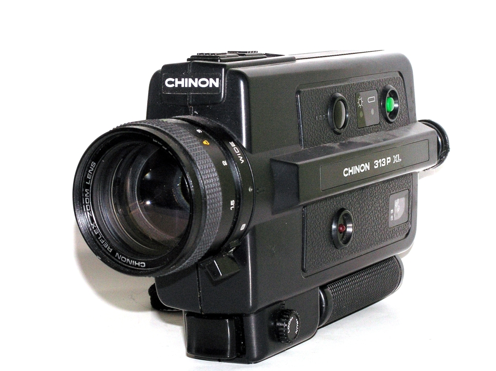 CHINON 313 P XL (1980-82) super 8 mm; Chinon Reflex Zoom 1.3_8.5-25.5 mm